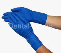 Перчатки латексные ЗАХИСНІ плюс тип HIGH RISK РАЗМЕР L
