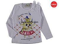 Белая нарядная детская кофта реглан туника для девочек  5 лет. Турция!!!