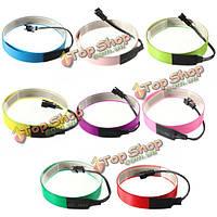 Красочные электролюминесцентный провод лентой эль 8 цветов инвертор 3v 60см * 14мм