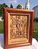 Икона деревянная резная Георгия Победоносца