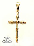 Кулон подвеска крест ПОЗОЛОТА