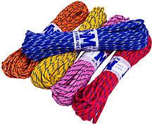 """Веревки бытовые """"MNM"""" (5mm/15m) плетеные шнуры, цветные"""