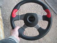 Руль Momo № 586 с красными вставками с переходником на ВАЗ 2110., фото 1