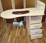 """Маникюрный стол """"Стандарт""""+пуф для педикюра+подкова, фото 2"""