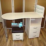 """Маникюрный стол """"Стандарт""""+пуф для педикюра+подкова, фото 3"""