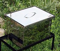 Коптильня малая из нержавейки (400х300х280)