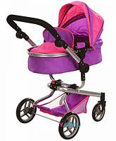 Коляска-трансформер для кукол Melogo 9695 фиолетовая