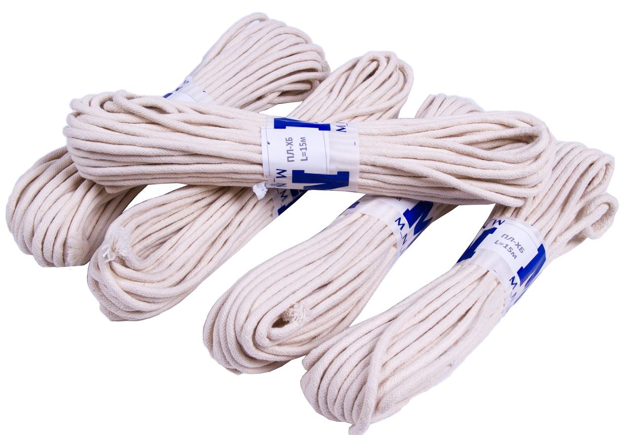 """Веревки бытовые """"MNM"""" Х/Б (4mm/15m) плетеные шнуры, хлопчатобумажные"""