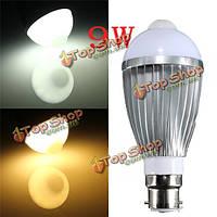 B22 9W 18 SMD 5730 инфракрасный датчик тела индукционные лампы теплый белый/белый 85-265