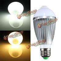 E27 9W 18 SMD 5730 инфракрасный датчик индукционные лампы тела теплый белый/белый 85-265