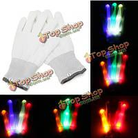 Многоцветный изменения LED МИГАЛКА перчатки для производительности клуба рождественской вечеринки