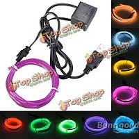 3м одного цвета 5В USB гибкий неон провода EL свет танцевальная вечеринка декор свет
