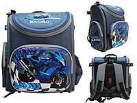 Ранец-короб ортопедический синий  BS038 Dr.Kong
