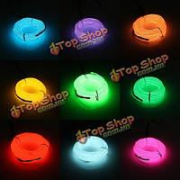4м одного цвета 5В USB гибкий неон провода EL свет танцевальная вечеринка декор свет
