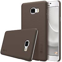 Чехол Nillkin для Samsung Galaxy C7 коричневый (+пленка)