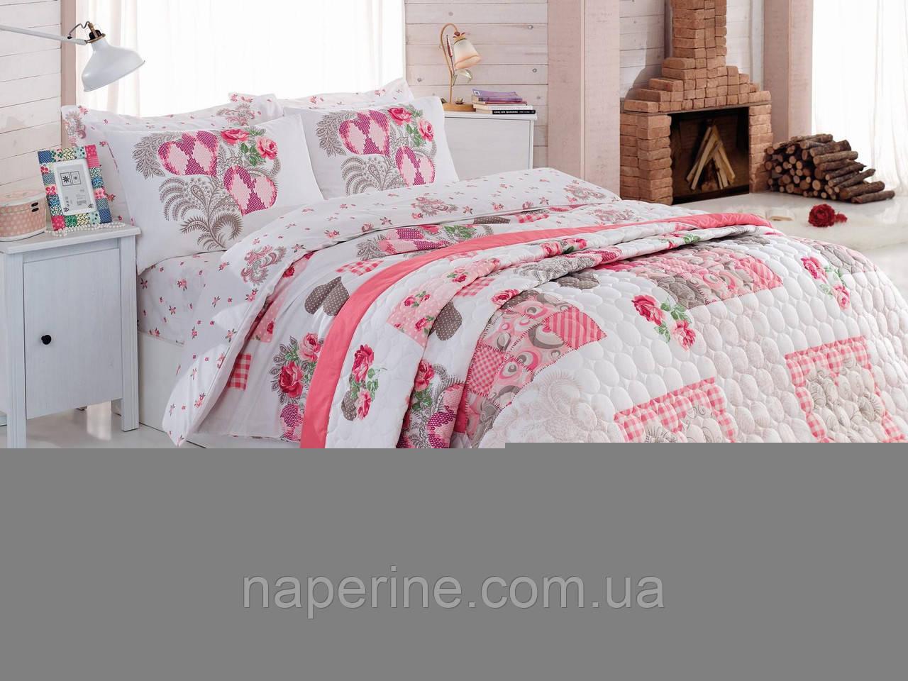 Постельное бельё полуторное  со стёганым летним одеялом Cotton box Angel