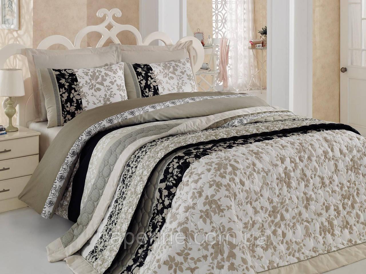 Постельное бельё полуторное  со стёганым летним одеялом Cotton box Deborah