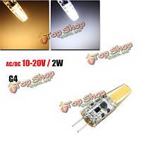 G4 2w початка спот лампа лампа накаливания LED теплая/чисто белый AC/DC 10-20В