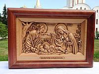 Икона деревянная резная Святое Семейство / Свята Родина, фото 1