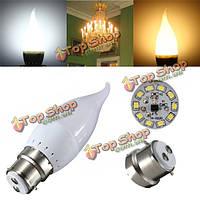 B22 3w белый теплый белый LED свеча пламя люстра лампа ac 220В