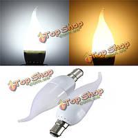 B15 3w белый теплый белый LED свеча пламя люстра лампа ac 220В