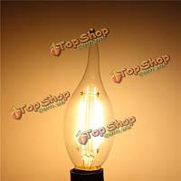 E14 2W белый/теплый белый нерегулируемых початка LED нить ретро Эдисон свечи накаливания 220В