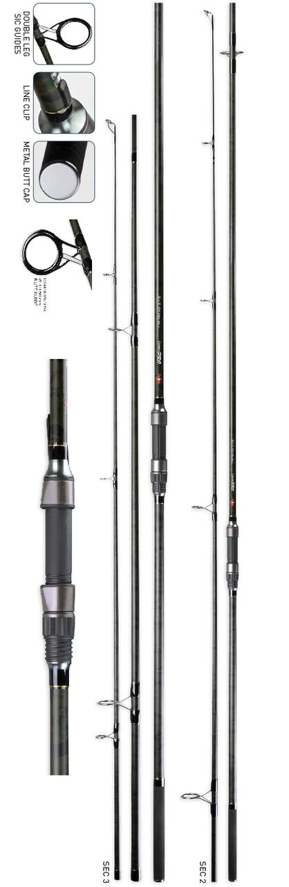 Удилище карповое Camoupro Carp Rod, 13' 3,50lb, 3 sections  (камуфляж)