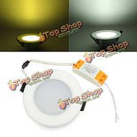 С регулируемой яркостью 6 Вт круглый LED потолочный светильник энергосберегающий дистанционного управления Панель световой 85-265