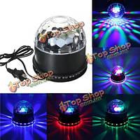 48 LED RGB голосовой кристалл магический шар эффект освещения этапа KTV клуб дискотека