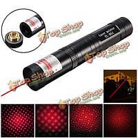 650nm 5mw регулируемые красный свет лазерная указка + звезда колпачок