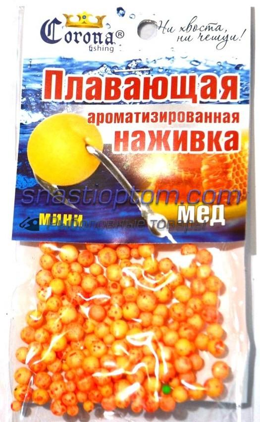 Наживка Corona пенопласт, Мед, mini, (4-6мм)