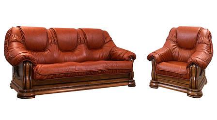 Класична шкіряні меблі Grizzly Hup (3р+1), фото 2