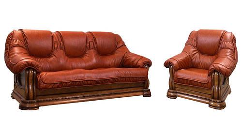 Классическая кожаная мебель Grizzly Hup (3р+1)