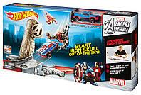 Трек Хот Вилс Мстители базовый Hot Wheels Marvel Avengers Flight Strike Track Set