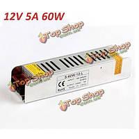 Мини-60w переключения питания 180-240v 12В 5а для LED полосы света