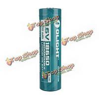 1шт olight 3.6 В 3200мАh перезаряжаемые охраняемых 18650 литиевая батарея