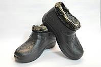 Галоши женские Крок меховые черные, фото 1