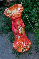 Ваза керамическая Розовое платье.