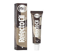 """Фарба для брів та вій №3 натуральна коричнева """"RefectoCil"""""""