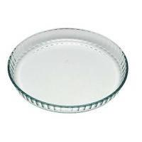 Круглая стеклянная форма с крышкой pyrex flan dish 30 см для запекания (814b000)