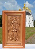 Икона деревянная резная Архангела Михаила, фото 1