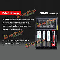 Кларус ch4s литий-ионные и никель-металлогидридные/никель-кадмиевые/lifepo4 блок мульти-батареи смарт-зарядное устройство
