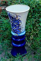 Красивая керамическая ваза Тюльпан гжель.