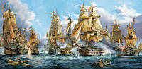Пазл Морская баталия 4000 деталей С-400102