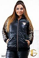 """Спортивный костюм женский теплый больших размеров """"Леопард"""""""