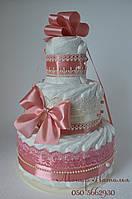 "Торт из памперсов ""Романтика"" 45 штук."