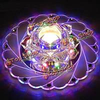 Современные 3вт LED кристалл лотоса на потолке коридора спальня гостиная домашний декор лампы 220В