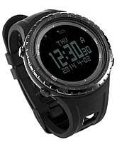 Спортивные часы FR801B – водозащита 5АТМ, шагомер, калории, термометр, барометр, альтиметр, компас. Черный, фото 1