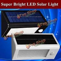 LED настенный уличный светильник на солнечных батареях и с датчиком движения Супер яркий свет