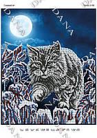 Схема для вышивания бисером Снежный кот 3195